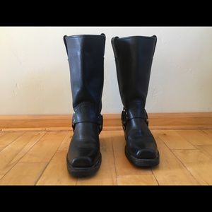 Frye Harness Boots - Black Moto, size 6.5